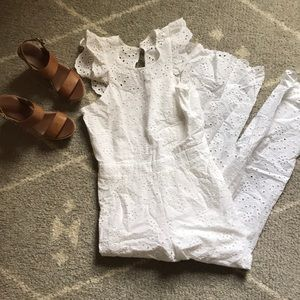 White Lace Bridal Nordstrom Jumpsuit Size Small